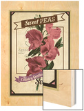 Vintage Sweet Peas Packet Wood Print