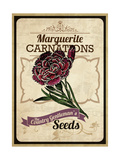 Vintage Carnation Seed Packet Giclee Print