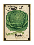Vintage Cabbage Seed Packet Giclee Print