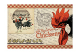 Checkered Chicken 6 Giclee Print