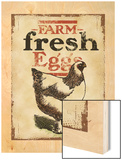 Farm Fresh Eggs Wood Print