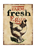 Farm Fresh Eggs Giclee Print
