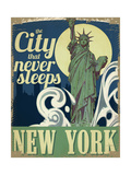 Travel New York Giclee-vedos