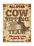 Cow Tipping Team Giclee Print