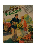 All Gardeners Welcome 2 Giclee Print