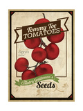 Vintage Tommy Tomato Seed Packet Giclee Print