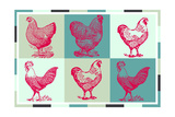 Chicken Pop 3 Giclee Print
