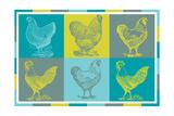 Chicken Pop 1 Impression giclée