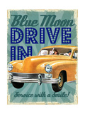 Blue Moon Drive In Giclee Print