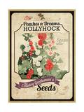 Vintage Hollyhock Seed Packet Giclee Print