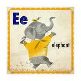 Vintage ABC- E Giclee Print