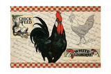 Checkered Chicken 4 Giclee Print