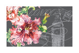 Floral Travel London Giclee Print