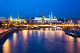 Dusk View of the Moscow Kremlin Photographic Print by Elena Ermakova