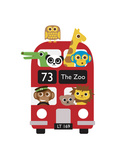 London Bus Zoo Giclee Print by Dicky Bird