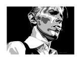 David Bowie - Thin White Duke Giclée-tryk af Emily Gray