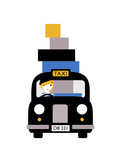 Taxi Giclee Print by Dicky Bird