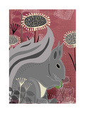 Squirrel Giclee Print by  Rocket 68