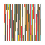 Technicolour Stripes Giclee Print by  Fimbis
