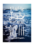 Depth Giclee Print by Leah Flores