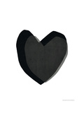 Black Heart Giclee Print by Seventy Tree