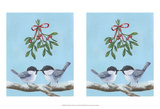 Chickadee Christmas I 2-Up Posters by Grace Popp