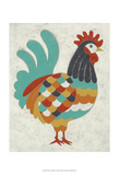 Country Chickens I Poster by Chariklia Zarris