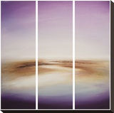 Violet Horizon Stretched Canvas Print by Tessa Houghton