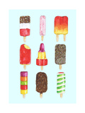 Ice Lollies Giclee Print by Alexandra Rolfe