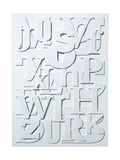 White Alphabet Giclee Print by Philip Sheffield