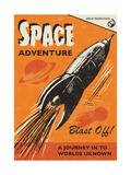 Space Adventure Giclee Print by  Rocket 68