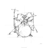Drum Sketch Limited edition van Ethan Harper
