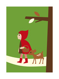 Little Red Riding Hood Giclee Print by Dicky Bird