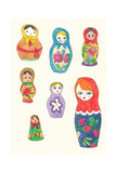 Doll Face Giclee Print by Jennifer Camilleri