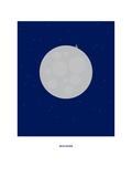 Christophe Gowans - Man on the Moon: Rem Digitálně vytištěná reprodukce