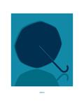 Umbrella: Rihanna Giclée-tryk af Christophe Gowans