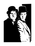 Laurel and Hardy Giclee-vedos tekijänä Emily Gray