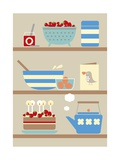Kitchen Shelves Giclee Print by Dicky Bird