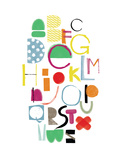 Alphabet Giclee Print by Catherine Aguilar