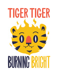 Tiger Tiger Burning Bright Giclee Print by Chris Wharton