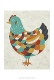 Country Chickens II Prints by Chariklia Zarris