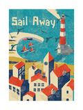 Sail Away Giclee Print by  Rocket 68