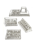 Synth Lover Giclee Print by Jennifer Camilleri