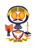 Sir Read a Lot Wydruk giclee autor Chris Wharton