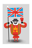 Beefeater Giclee Print by Chris Wharton