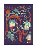 Music in the Rain Giclee Print by Dale Edwin Murray