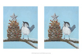 Chickadee Christmas II 2-Up Affiches par Grace Popp