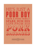 Spare Him His Life from Pork Sausages Giclee Print by Peter Reynolds