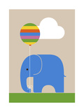 Elephant Giclee Print by Dicky Bird
