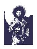 Jimi Hendrix - Purple Haze Giclée-Druck von Emily Gray